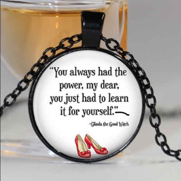 1d0ebc1a50 New Silver Wizard of Oz Quote Necklace in Silver